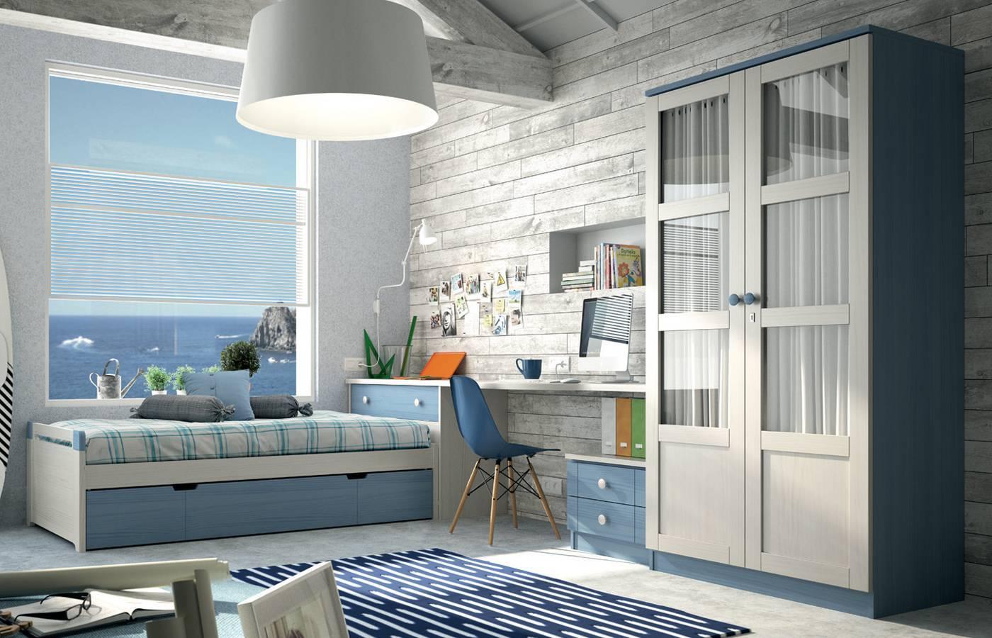dormitorio-juvenil-apilable-grupo-seys-blanco-decape-azul-cielo